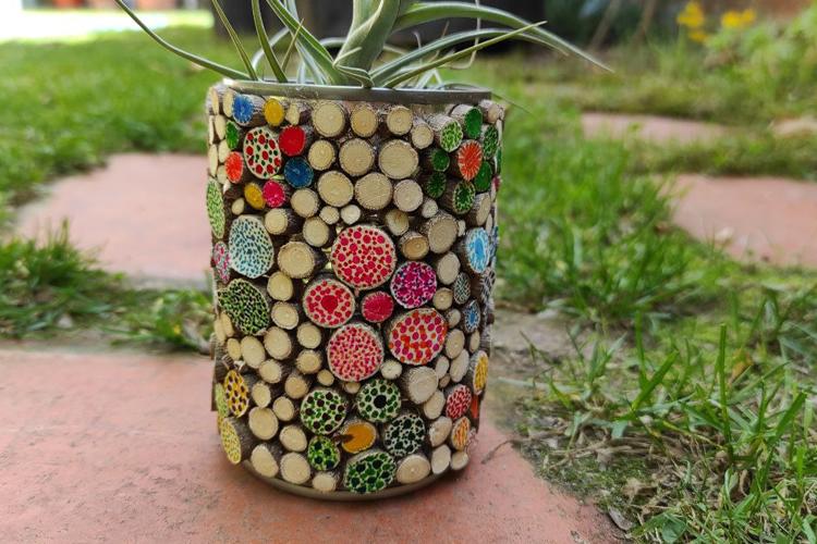 Pot de llauna primaveral
