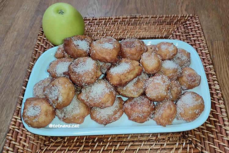 recepta bunyols de poma