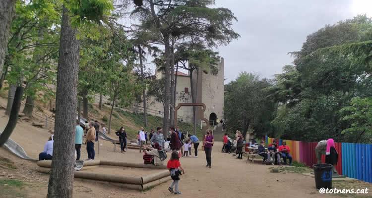 tobogans poble espanyol zona pícnic