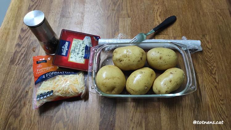 tronc de patata amb formatges