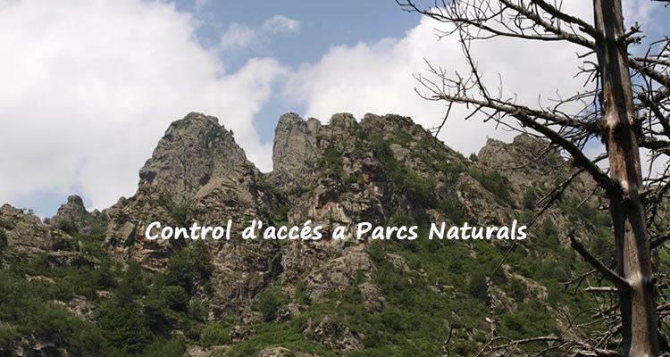 control d'accés a parcs naturals