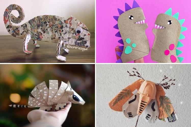 4 creatius animals de cartró