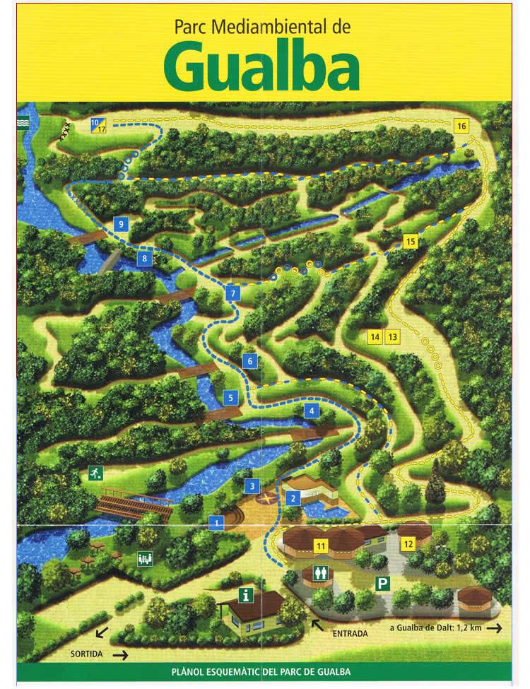 mapa parc de gualba